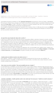 3 questions à Bernard Thomasson