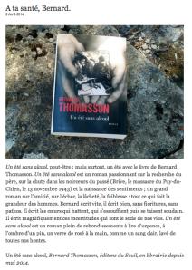 Blog Grégoire Delacourt (02 août 2014)