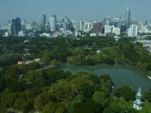 Skyline et parc de Lumphini © B.T.